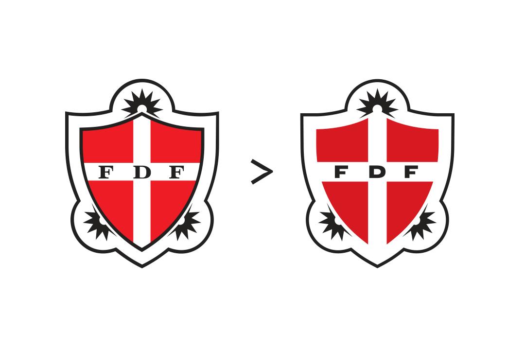 Gammelt og nyt FDF logo